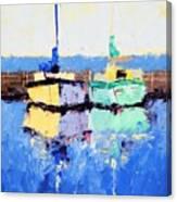 Lahaina Boats Canvas Print