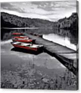 Lake And Boats Canvas Print