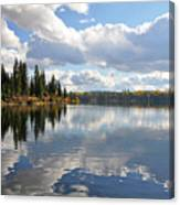 Lake And Clouds Canvas Print