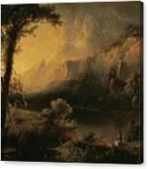 Lake And Mountains Canvas Print