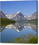 Lake At Many Glacier Canvas Print