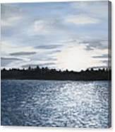 Lake At Sunset Canvas Print