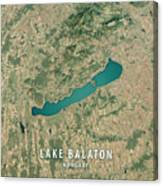 Lake Balaton 3d Render Satellite View Topographic Map Canvas Print