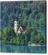 Lake Bled Island Canvas Print