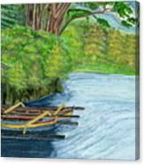 Lake Bratan Boats Bali Indonesia Canvas Print