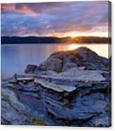 Lake Coeur D'alene Sunset Canvas Print
