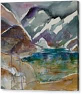 Lake Collage Canvas Print