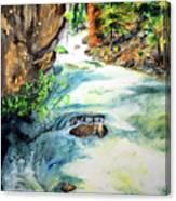Lake Como Waterfall Canvas Print