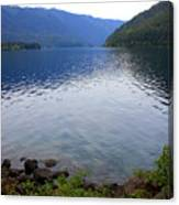 Lake Crescent - Digital Painting Canvas Print