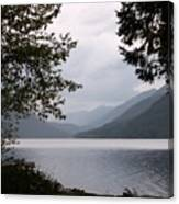 Lake Crescent Through The Trees Canvas Print