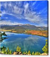 Lake Dillon Blue Canvas Print