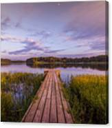 Lake Dock Canvas Print
