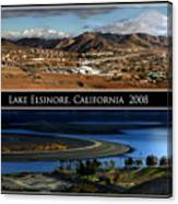 Lake Elsinore  180 Degrees Canvas Print