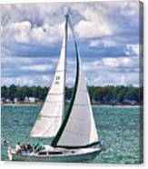 Lake Erie Sailing 8092h Canvas Print