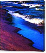 Lake Erie Shore Abstract Canvas Print