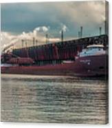 Lake Freighter - Honorable James L Oberstar Canvas Print