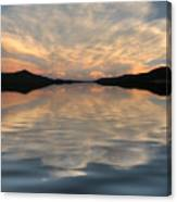 Lake Front Sunset Canvas Print