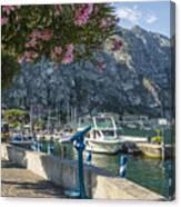 Lake Garda Harbour Of Limone Sul Garda Canvas Print