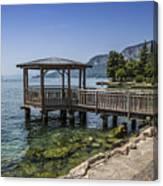 Lake Garda Riverside At Garda Canvas Print