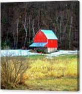 Lake Hallie Barn Canvas Print