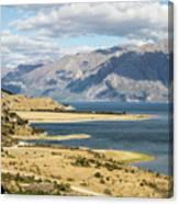 Lake Hawea In New Zealand Canvas Print