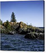 Lake Huron Shoreline Cedarville Michigan Canvas Print