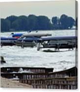 Lake Huron Shoreline Leading To Sand Point Canvas Print