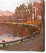 Lake In Bear Mountin Canvas Print
