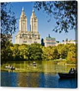 Lake In Central Park Canvas Print