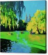 Lake In Central Park Ny Canvas Print