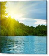 Lake In Deep Forest Canvas Print