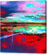 Lake In Red Canvas Print