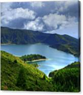 Lake In The Azores Canvas Print