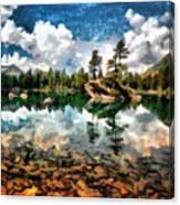Lake Island View Canvas Print