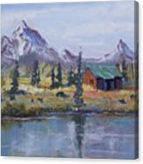 Lake Jenny Cabin Grand Tetons Canvas Print