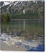 Lake Jenny Grand Tetons Canvas Print