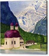 Lake Konigssee Canvas Print