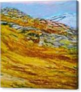 Lake Los Angeles Evening Somg Canvas Print