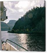 Lake Lucerne From A Boat  Canvas Print