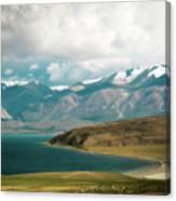 Lake Manasarovar Kailas Yantra.lv Tibet Canvas Print