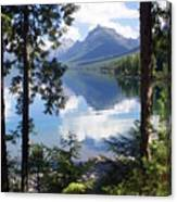 Lake Mcdlonald Through The Trees Glacier National Park Canvas Print