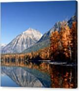 Lake Mcdonald Autumn Canvas Print