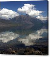 Lake Mcdonald Reflection Glacier National Park Canvas Print