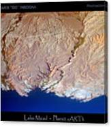 Lake Mead - Planet Art Canvas Print