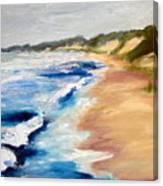 Lake Michigan Beach With Whitecaps Detail Canvas Print