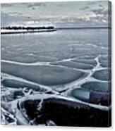 Lake Michigan Frozen Canvas Print