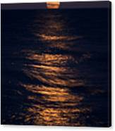 Lake Michigan Moonrise Canvas Print