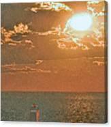 Lake Michigan Sunset. Canvas Print