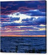 Lake Michigan Windy Sunrise Canvas Print