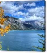 Lake Minnewanka Banff National Park Alberta Canada Canvas Print